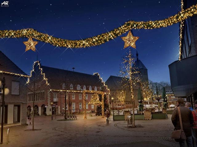 Winter und weihnachtsbeleuchtung in der vredener for Professionelle weihnachtsbeleuchtung